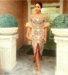 """Hello, Today we bring to you """"Pretty Aso Ebi Gowns"""". Aso Ebi being one of our famous material in the fashion world is already making lif. Aso Ebi Lace Styles, Lace Dress Styles, African Lace Dresses, African Fashion Dresses, Ankara Styles, Nigerian Fashion, African Clothes, Ankara Fashion, Net Fashion"""