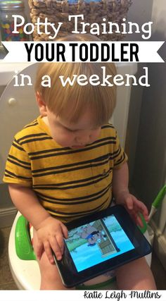 Potty Training in a Weekend - Katie Leigh Mullins potty training your toddler in a weekend Potty Training Humor, Toddler Potty Training, Training Tips, Potty Training Rewards, Dog Training, Train Activities, Toddler Activities, Kids And Parenting, Parenting Hacks