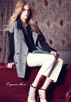 CARA DELEVINGNE FOR LAGUNA MOON F/W 2012 #Cara_Delevingne #Woman #Beauty