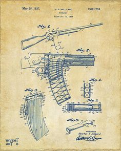 Original Remington Guns Patent Art Prints Set of Four Photos Unframed Great Gift for Gun Owners Military Army or Marine ** To view further for this item, visit the image link. (This is an affiliate link) Poster Prints, Art Prints, Blue Prints, Patent Drawing, 6 Photos, Patent Prints, Technical Drawing, Art Sketchbook, Firearms