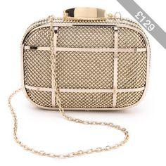 4c7ee1c344 Whiting   Davis Cage Minaudiere Clutch Studded Handbags