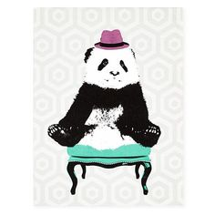 This is just too awesome- who doesn't like a party panda? $79    WallArt_Canvas_Funky_Panda_389811_LL