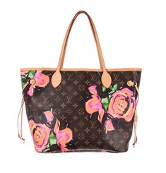 a7f28e63eb5 LOUIS VUITTON Pink Monogram Canvas Stephen Sprouse Roses Neverfull MM Bag   fashion  clothing