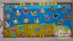 - * - Portefólio de Educação de Infância - * -  Encomendas de Convites e Lembranças Festivas - * - Summer Crafts For Toddlers, Summer Activities, Art For Kids, Diy Home Crafts, Baby Crafts, Toddler Crafts, Summer Bulletin Boards, Ocean Crafts, Room Themes