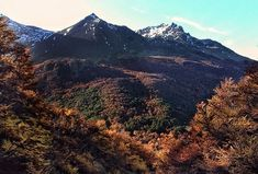 Tierra del Fuego getting ready for winter - fresh temperatures and warm colours. View from the Los Amigos waterfall east of Ushuaia. Argentina Culture, Visit Argentina, Warm Colours, Ushuaia, Mountain Landscape, End Of The World, Where To Go, Trekking, Patagonia