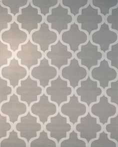 Light grey - marrekesh pattern. Would need to do custom size as largest is nowhere near big enough for your space