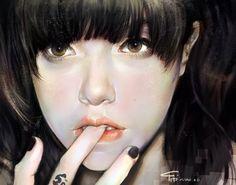 girl portrait, Yanjun Cheng on ArtStation at https://www.artstation.com/artwork/oAGaz