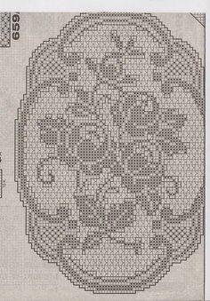 Kira crochet: Crocheted motif no. 348 Kira crochet: Crocheted motif no. Crochet Stars, Crochet Cross, Thread Crochet, Diy Crochet, Vintage Crochet, Crochet Stitches, Filet Crochet Charts, Crochet Flower Patterns, Crochet Designs