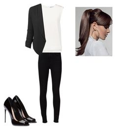 """""""Untitled #432"""" by larisatwilight ❤ liked on Polyvore featuring Frame Denim, Finders Keepers and LE3NO"""