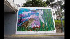 Mural hecho por 'Charquipunk', ubicado en la Alameda Chabuca Granda. Foto: Facebook/Municipalidad Metropolitana de Lima