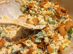 Use non dairy cheese and mayo only. Paula Deen's Corn Salad