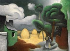 Landscape with Three Haystacks - Jean Metzinger - The Athenaeum