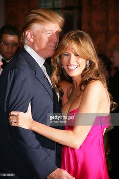 Donald Trump, Melania Trump Trump during The Breast Cancer Research Foundation's Annual Hot Pink Party at Waldorf Astoria Hotel in New York, New York, United States. Donald And Melania Trump, First Lady Melania Trump, Trump Melania, Milania Trump Style, Donald Trump Pictures, Melania Knauss Trump, Malania Trump, Kardashian Photos, Pink Parties