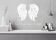 Keep calm and listen to the Angels. Designing wall stickers inspired by angels. Will be soon in my web shop - first only in Finland. Whisper, Finland, Wall Stickers, The Help, Angels, Wings, Calm, Inspired, Shop