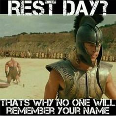 If you skip rest days you will be Pitt Fit LIKE ACHILLES in Troy! I'm in! #remember #troy #restdays #fitness #fitnessmotivation #motivation #healthy #iworkout #workout #bradpitt #fitforlife #fit4life #jacked #built
