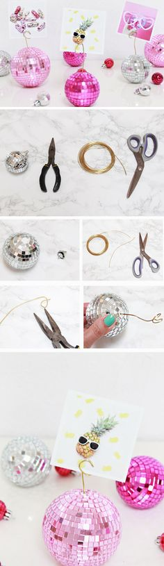 Disco Ball Photo Holders | Click Pic for 26 DIY Christmas Gift Ideas for Friends | DIY Birthday Gift Ideas for Friends | DIY Christmas Gifts for Family