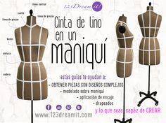 La cinta de lino en los maniquís, te sirve para crear diseños únicos, drapeados, modelado, entre otros usos.