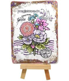 Stampendous » Seed Catalog Tile by Kristine Reynolds