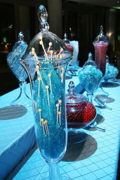Fire and Ice theme candy bar,