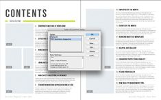 Generating an Automatic Table of Contents from an InDesign Template