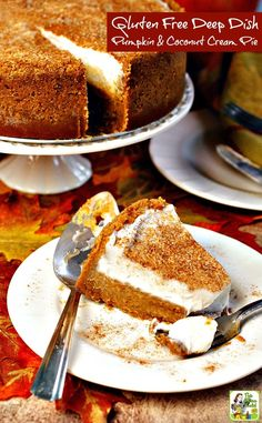 A gluten free and dairy free pumpkin pie recipe for Halloween, Thanksgiving, or fall entertaining.