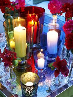 light candles in our home (livingroom, dining room, bedroom, bathroom, kitchen) to create romance and add wonderful loving energy #flowers and #candles #beauty