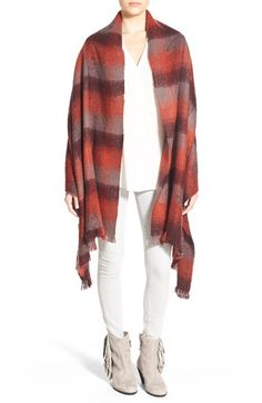 Treasure&Bond 'Blurred Plaid' Ombé Blanket Wrap available at #Nordstrom -- won't let me pin the blue but that's the one I like