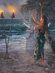 """Hula"" by Leo Hone = Look closely at the ancestor in the painting"