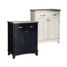 Home Styles Small Buffet/Server with Stainless Steel Top - BedBathandBeyond.com