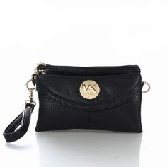 Michael Kors Blake Saffiano Logo Small Black Wallets, Your First Choice