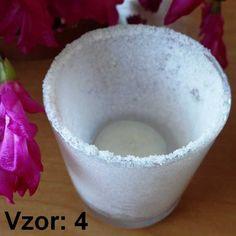 Svietnik sklenený mix vzorov - Sviečka - S čajovou sviečkou (plus 0,10€), Vzor - Vzor 4