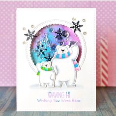 """138 Likes, 10 Comments - Suzy Plantamura (@suzyplant) on Instagram: """"My favorite polar bears by @mftstamps and pretty sequins by @prettypinkposh . Trying to post one…"""""""