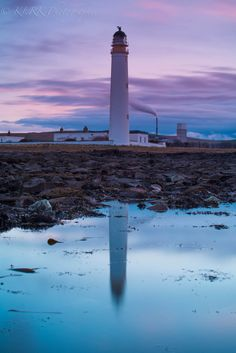 Barns Ness lighthouse 1 by Kevin Ainslie, via 500px