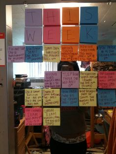 I have about 10k sticky notes so this Is an amazing idea to keep me motivated and focused visually and mentally - throw them away when they're done