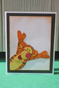 Tigger in the Corner Handmade Card - Winnie the Pooh - $5.00 - Hoot & Toot's Loot