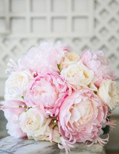 Featured Photographer: Ann & Kam Photography & Cinema; Classic pink and white wedding bouquet