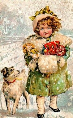.I love these old Christmas cards & postcards.... the pictures are so beautiful