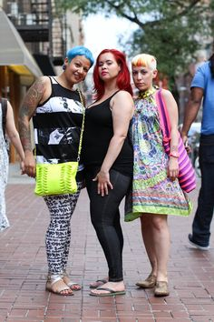 I think that, between the three of them, all of the colors in the crayon box have been covered.