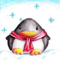 The first snow fall falling tonight, and now, everything& white outside! Penguin Drawing, Penguin Art, Penguin Love, Cute Penguins, Pencil Drawings Of Animals, Cartoon Drawings, Art Drawings, Colour Pencil Shading, Cute Drawlings