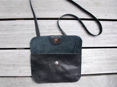 Schwarze Leder Handtasche von LABOURofART auf Etsy