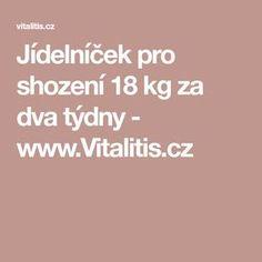 Jídelníček pro shození 18 kg za dva týdny - www.Vitalitis.cz