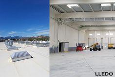 Garcia Aranda apuesta por la luz natural instalando en sus naves productos Sunoptics. Máximo aprovechamiento de la luz solar y óptima difusión.