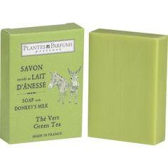 Zeep met ezelinnenmelk - groene thee - 100 g -