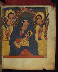 Illuminated Manuscript, Ethiopian Gospels, Virgin and child, Walters Art Museum Ms. W.850, fol. 3r | Flickr - Photo Sharing!
