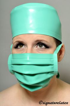 Latex/ Rubber Medical/Surgical Hat in Jade Green (Medical Green)   eBay