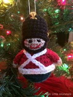 5 Little Monsters: Toy Soldier Christmas Ornament... Free crochet pattern!!