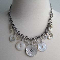 a pretty button necklace
