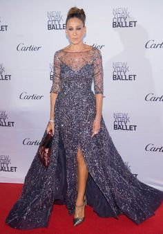 Sarah Jessica Parker sparkles at the New York City Ballet Fala Gala on Wednesday.