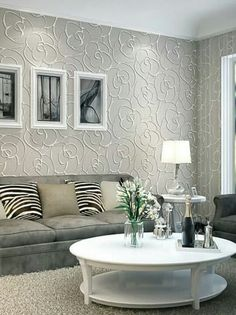 Gorgeous modern fashion textured floral rose flower white grey wallpaper, love this, ( available from ebay )