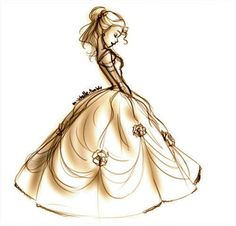 Drawing belle tattoo idea sketch beauty and the beast